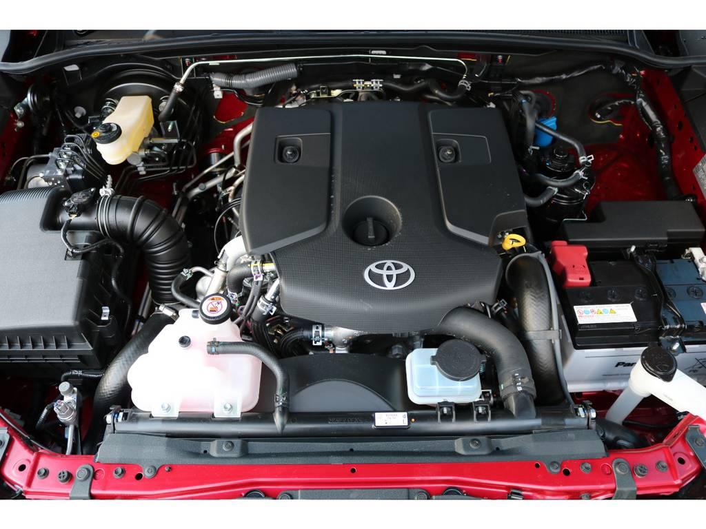 ディーゼルターボエンジン!トルクフルな走りに燃費の良さも特徴! | トヨタ ハイラックス 2.4 Z ディーゼルターボ 4WD Z