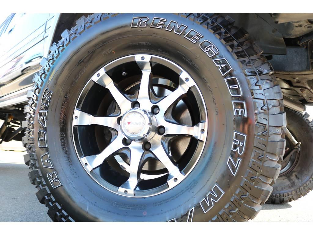 MKW16インチAW&315MTタイヤの足元! | トヨタ ランドクルーザー80 4.5 VXリミテッド 4WD