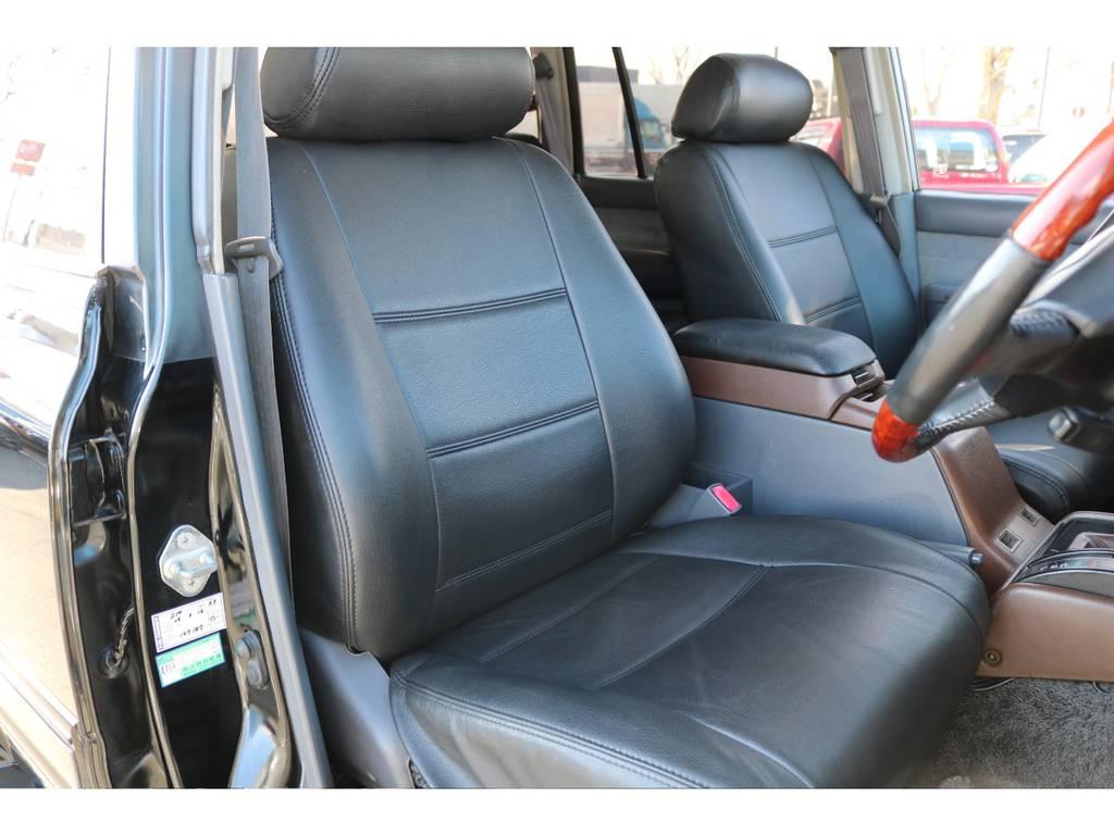 運転席シートもシートカバーが装着されております!使用感を感じない綺麗な状態です! | トヨタ ランドクルーザー80 4.5 VXリミテッド 4WD