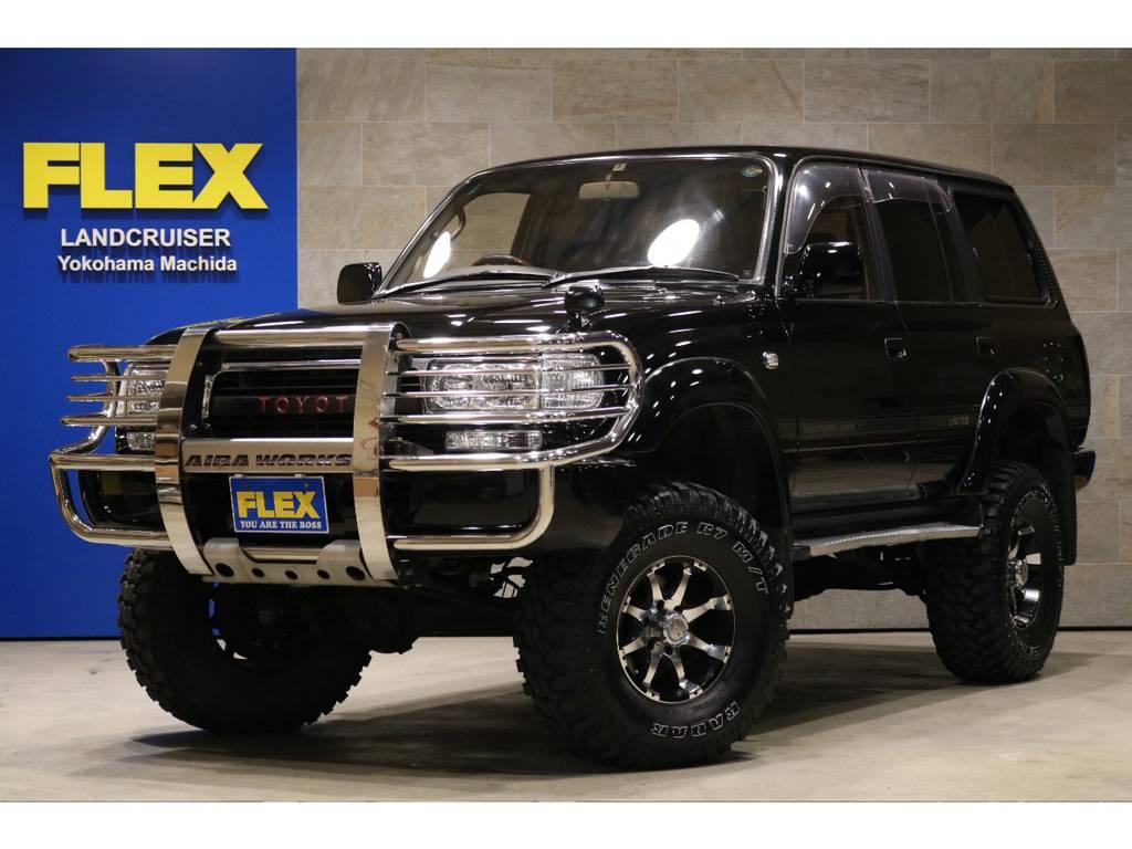 中期モデル!背面レス!5インチリフトアップ足回り補正済み!MKW16AW&RADAR315MTタイヤ! | トヨタ ランドクルーザー80 4.5 VXリミテッド 4WD