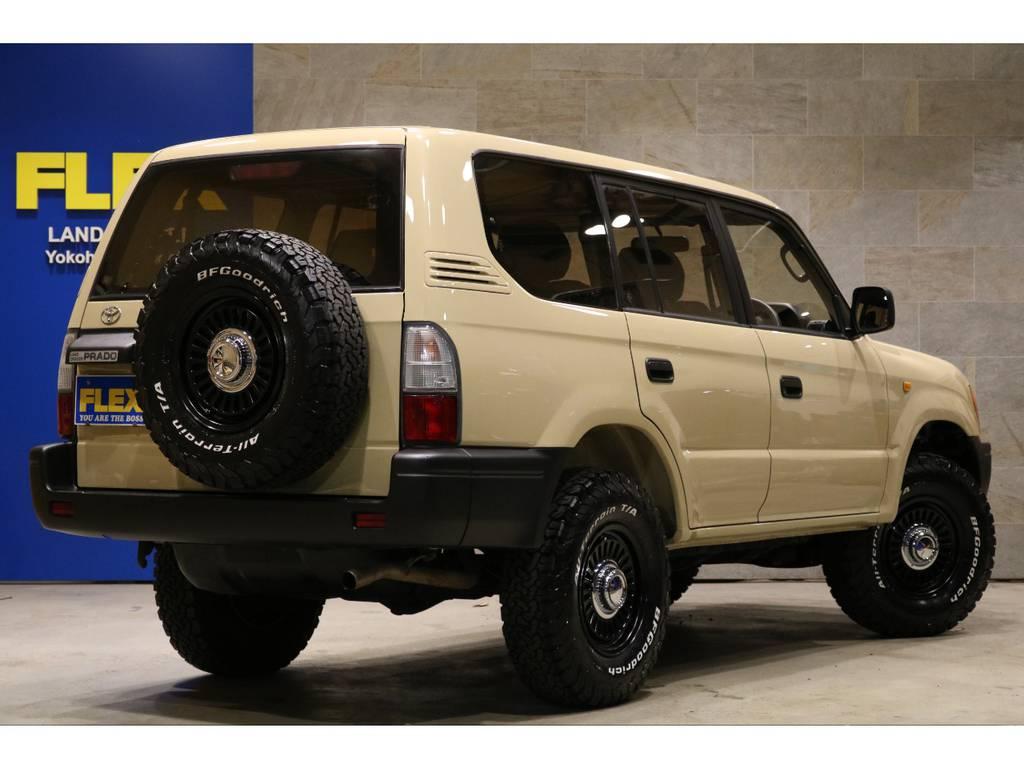 新品DEAN16インチAW×5本&BFG235AT×5本!新品オレンジクリスタルコーナーレンズ!新品レザー調シートカバー! | トヨタ ランドクルーザープラド 2.7 TX 4WD TX