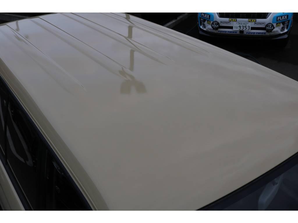 全塗装をしているので天井もご覧の通り綺麗な状態です! | トヨタ ランドクルーザープラド 2.7 TX 4WD TX
