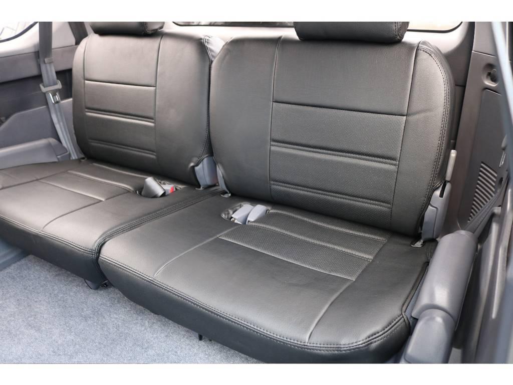 3列目も新品レザー調シートカバーを装着致しました! | トヨタ ランドクルーザープラド 2.7 TX 4WD TX
