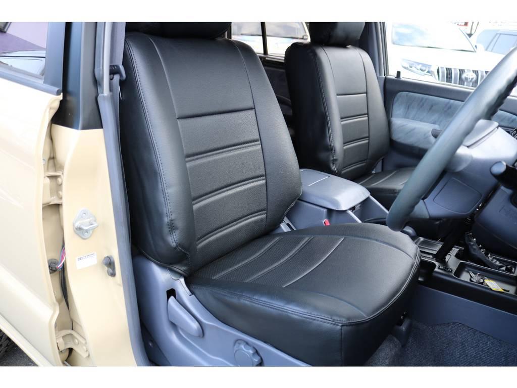 新品ブラックレザー調シートカバーを当店にて施工いたしました! | トヨタ ランドクルーザープラド 2.7 TX 4WD TX