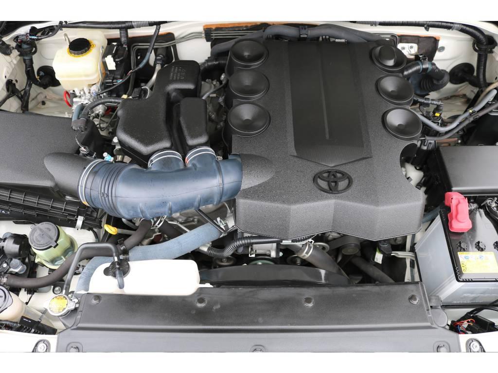 キレイなエンジンルーム!トルクフルな走りが特徴なV6・1GR-FE、4000ccエンジン! | トヨタ FJクルーザー  ベースグレード