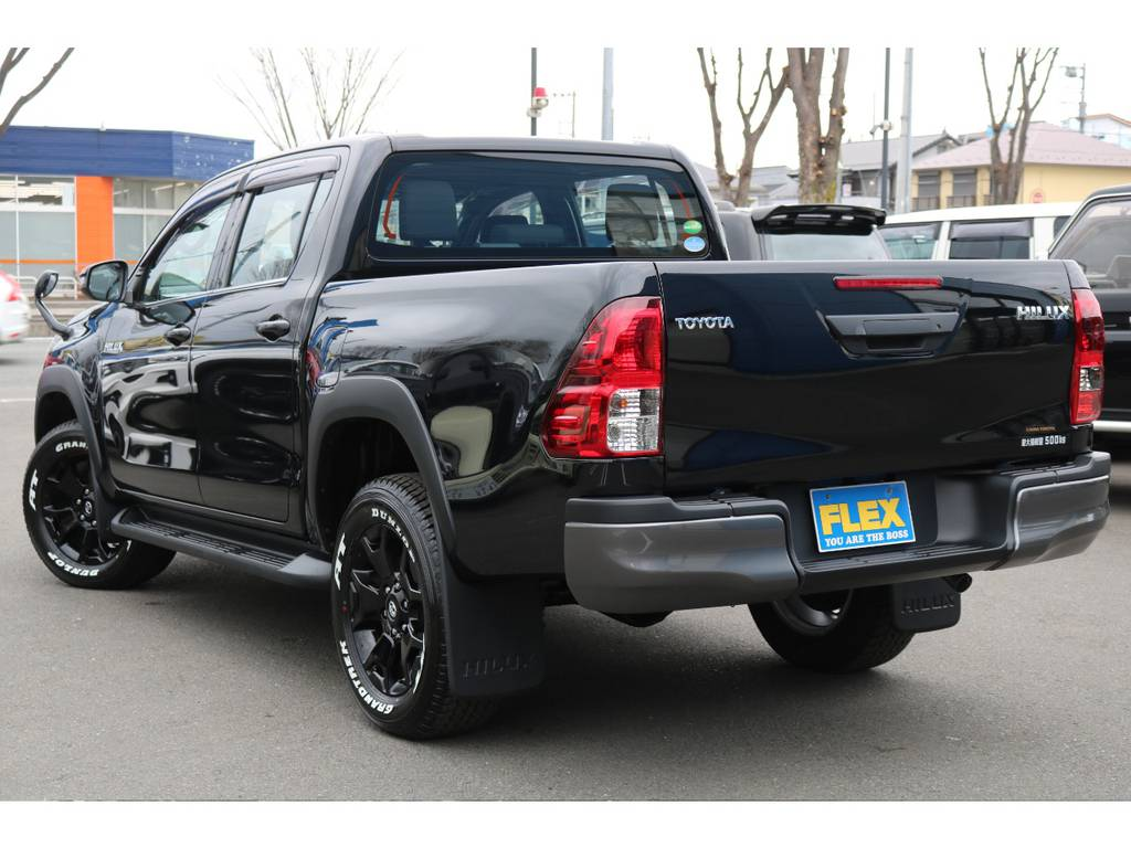 各部ブラックカラーのエクステリアパーツ!引き締まった印象です! | トヨタ ハイラックス 2.4 Z ブラック ラリー エディション ディーゼルターボ 4WD
