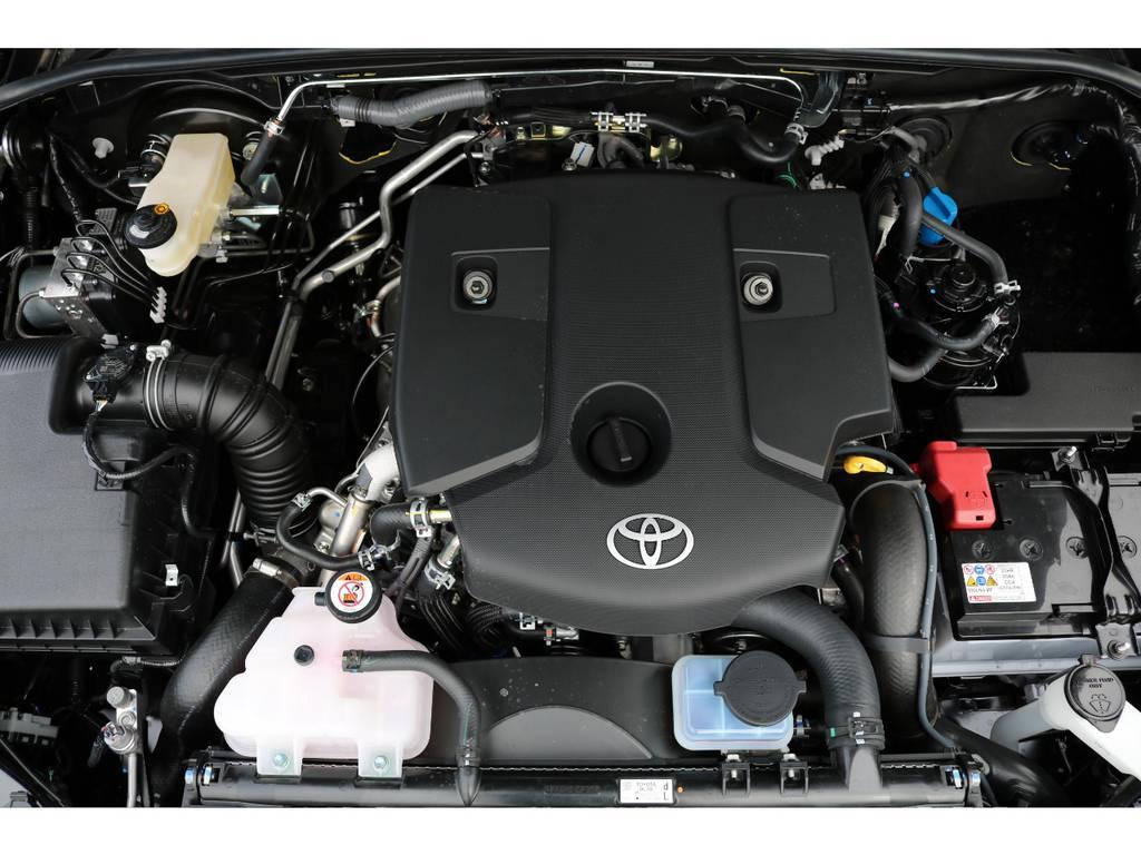 クリーンディーゼルの新型エンジン!2400cc!トルクフルな走りが楽しめます! | トヨタ ハイラックス 2.4 Z ブラック ラリー エディション ディーゼルターボ 4WD