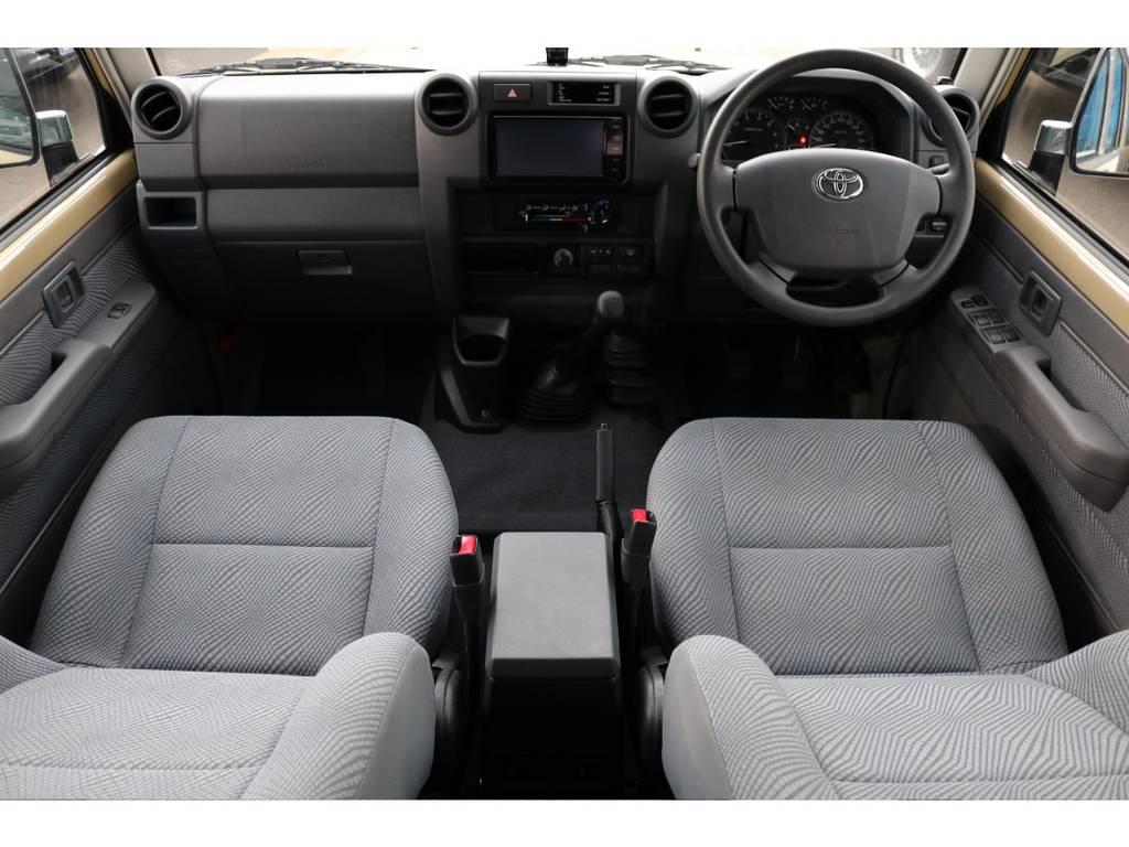 キレイな状態のままの室内です!汚れやダメージも見受けられません! | トヨタ ランドクルーザー70 4.0 4WD