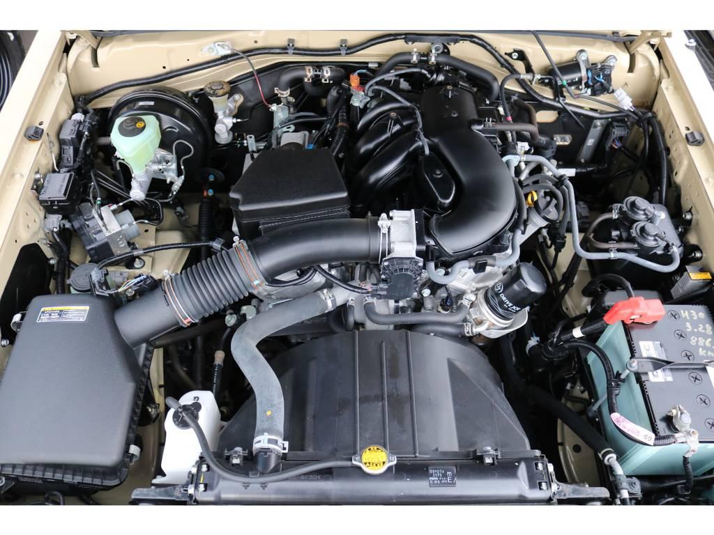 パワフルな走りが特徴の、V6・4000cc1GRエンジン! | トヨタ ランドクルーザー70 4.0 4WD