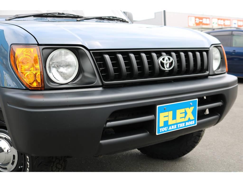 フロントグリルにヘッドランプ、バンパーも新品で交換済みです! | トヨタ ランドクルーザープラド  TZ