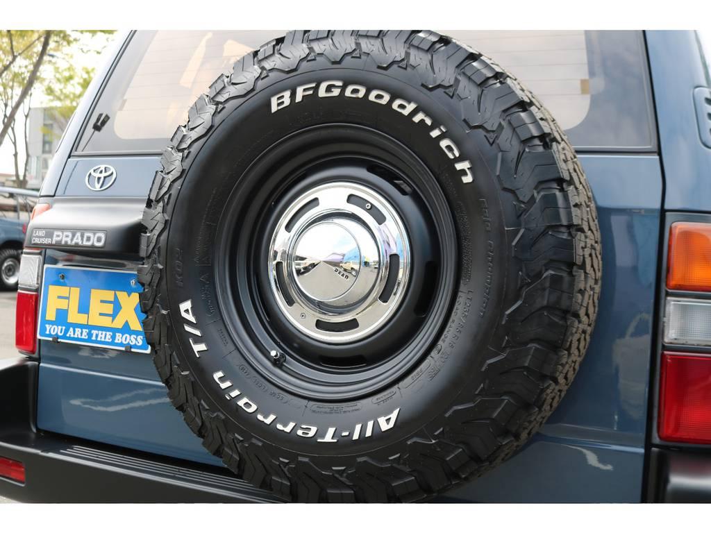 背面タイヤもDEAN16AW&BFグッドリッチ235MTタイヤに変更しました! | トヨタ ランドクルーザープラド  TZ