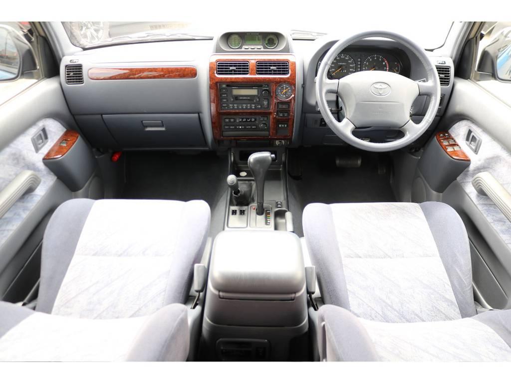 TZグレード!グレー内装の車内、綺麗な状態を維持しております! | トヨタ ランドクルーザープラド  TZ