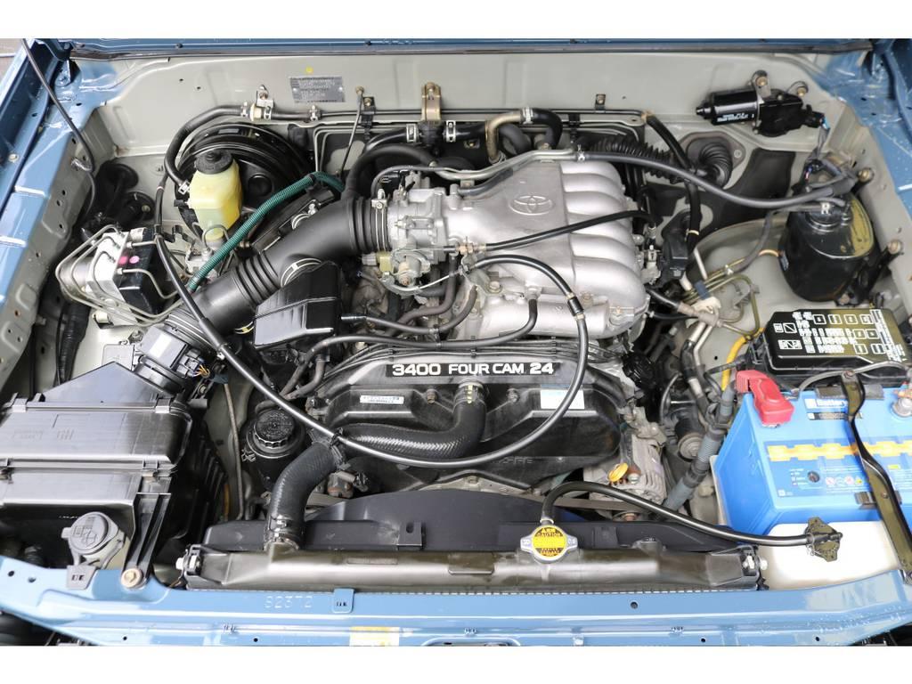 3400ccのパワフルなエンジン!荷物を沢山積んだり、登り坂でもパワー不足を感じさせません! | トヨタ ランドクルーザープラド  TZ