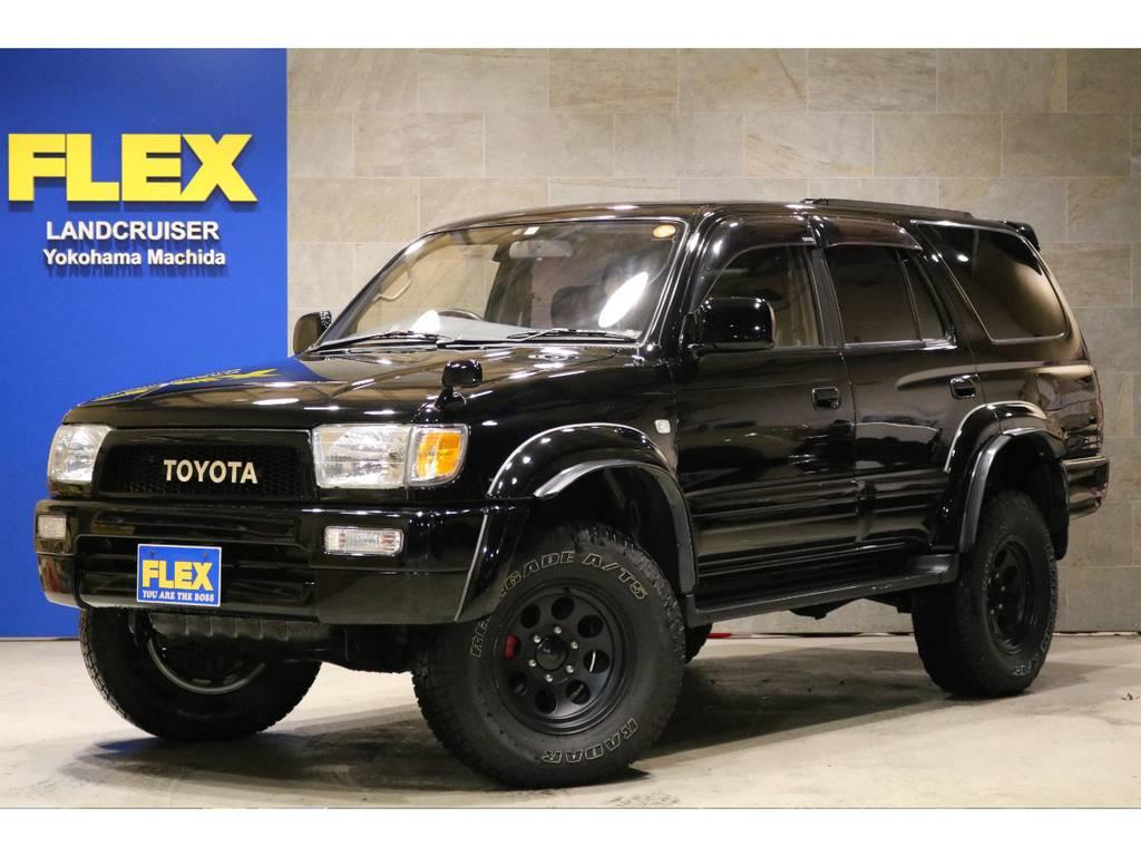 ブラックカスタム!LEDヘッドライト&クリスタルランプ!横文字グリル!2インチリフトアップ! | トヨタ ハイラックスサーフ 2.7 SSR-V ワイドボディ 4WD