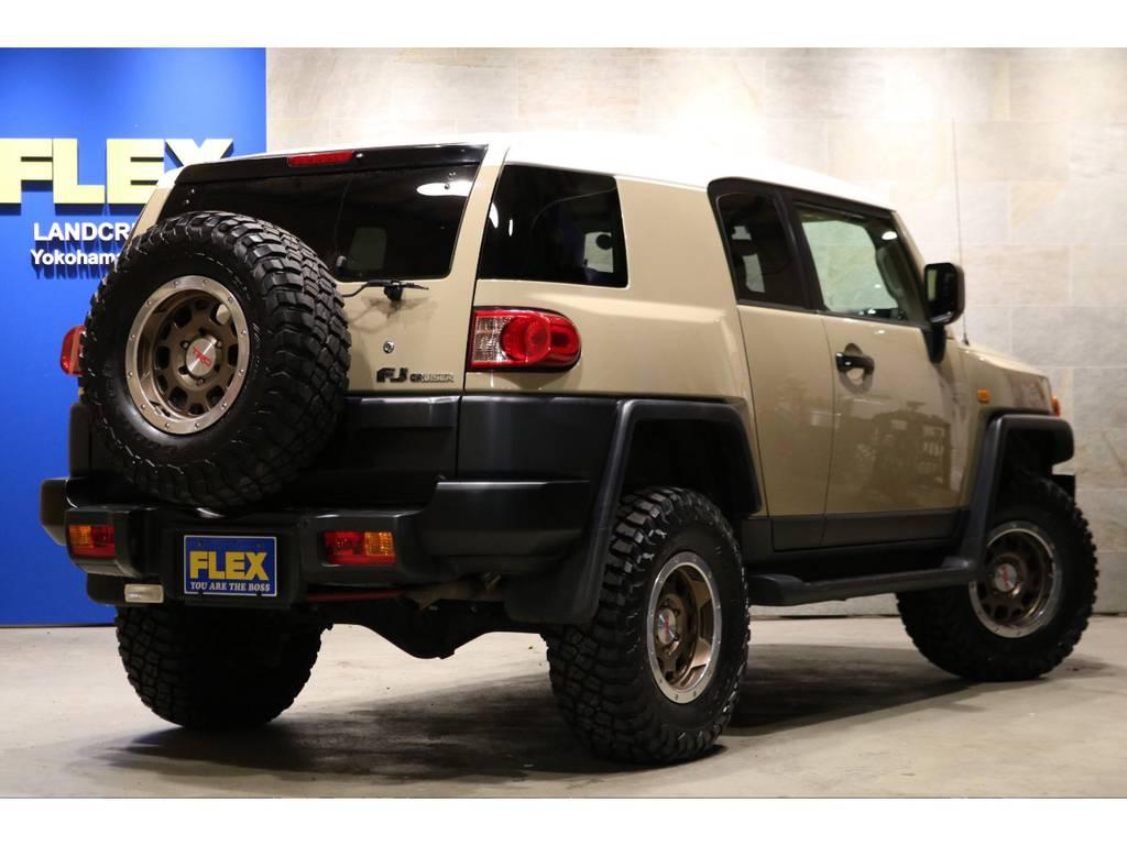 新品BFグッドリッチ285MTタイヤ新品トレイル仕様ブラックアウター!A-TRAC!SDナビ&ETC!オートアラーム! | トヨタ FJクルーザー 4.0 カラーパッケージ 4WD