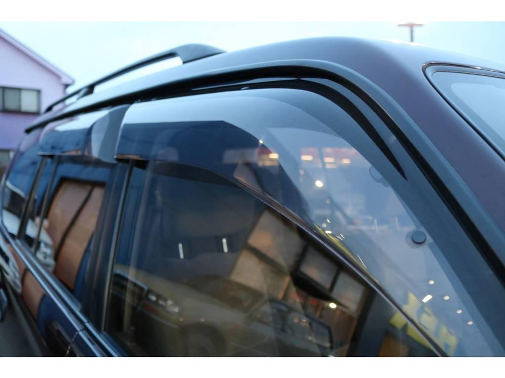 あると助かるサイドバイザー付き! | トヨタ ランドクルーザープラド 2.7 TX リミテッド 4WD