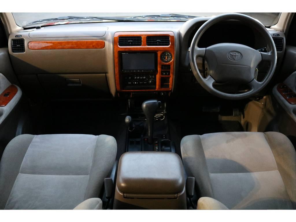 希少なベージュカラー内装!シミや汚れも無く、キレイな状態です! | トヨタ ランドクルーザープラド 2.7 TX リミテッド 4WD