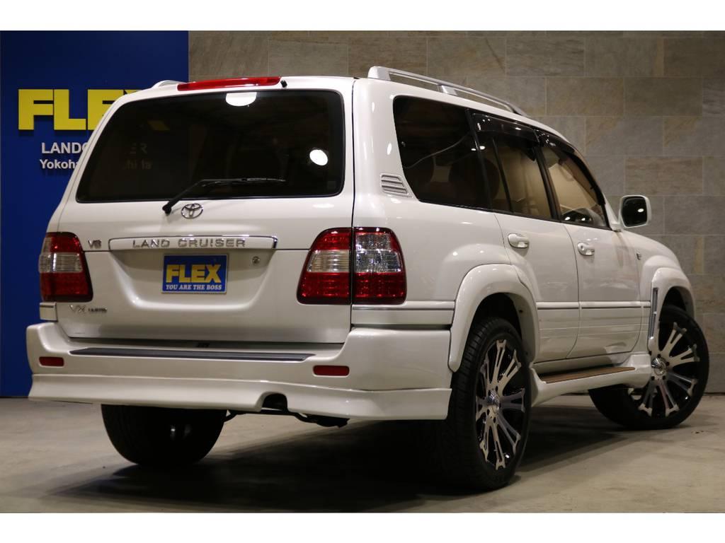 TITAN22インチAW!専用スエード×レザー調シートカバー!フロアマット!ルーフレール!LEDテール! | トヨタ ランドクルーザー100 4.7 VXリミテッド 4WD