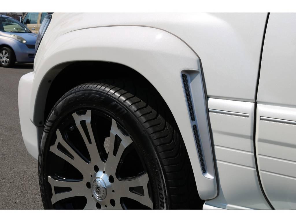 エアダクトオーバーフェンダー! | トヨタ ランドクルーザー100 4.7 VXリミテッド 4WD