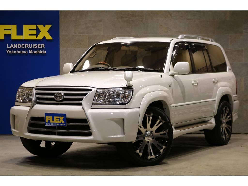 FLEXカスタム・コンセプトモデル【GOLDMAN CRUISE】!専用フロントグリルバンパー&オーバーフェンダー! | トヨタ ランドクルーザー100 4.7 VXリミテッド 4WD