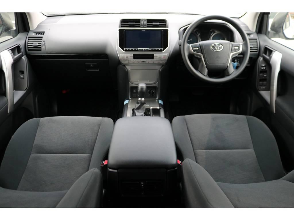 現行モデルからインストール可能になった、BIG-X9インチナビを装着!ワイド画面による楽しいドライブを!   トヨタ ランドクルーザープラド 2.8 TX ディーゼルターボ 4WD 7人