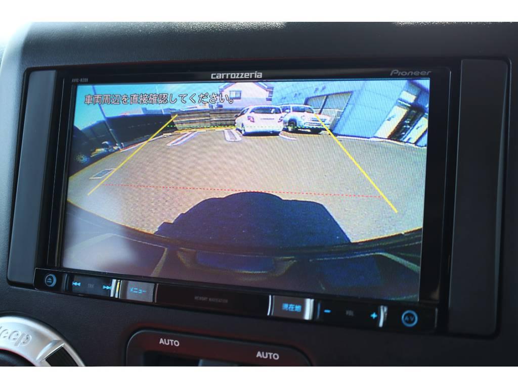 カロッツェリア製SDナビ装備済み!バックカメラも完備しており、車庫入れも安心ですね!