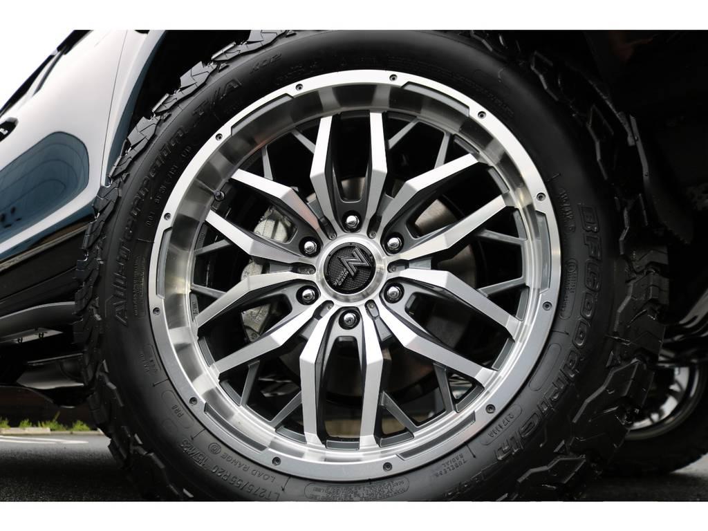 NITRO・POWERガジェット20インチAWに、BFグッドリッチ275ATタイヤの組合せ!当社オリジナルカラーです! | トヨタ ランドクルーザープラド 2.7 TX Lパッケージ 4WD 7人