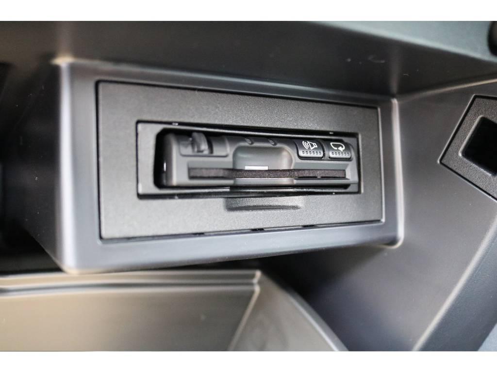 グローブボックス内に設置した、ETC車載器!高速道路も楽々です! | トヨタ ランドクルーザープラド 2.7 TX Lパッケージ 4WD 7人