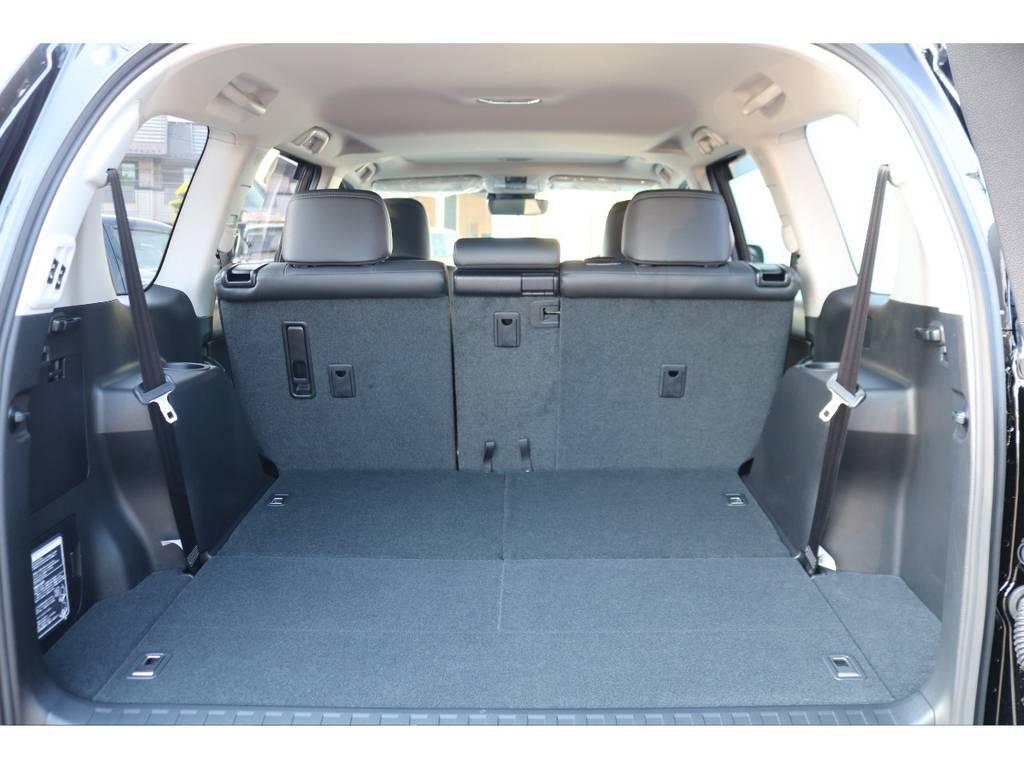広大なラゲッジスペース!サードシートは床下格納式です! | トヨタ ランドクルーザープラド 2.7 TX Lパッケージ 4WD 7人