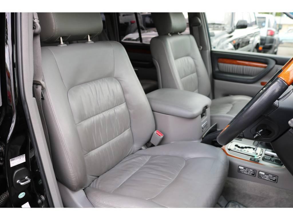 専用グレーカラー内装!シート表皮の状態も良好です! | トヨタ ランドクルーザーシグナス 4.7 インテリアセレクション 4WD