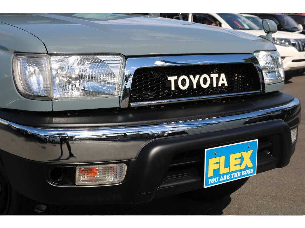 新品ヴィンテージグリル&横文字トヨタエンブレム!人気の横文字トヨタ文字です! | トヨタ ハイラックスサーフ 2.7 SSR-X Vセレクション 4WD