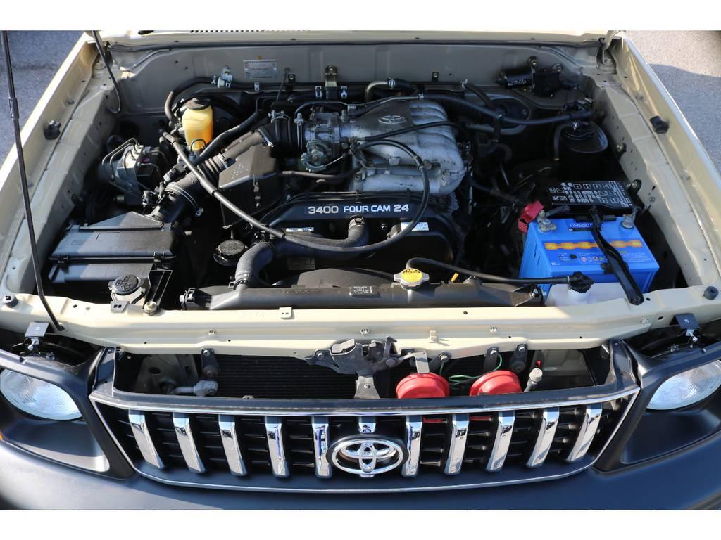 トルクフルな走りが特徴の、V6・3400ccエンジン!