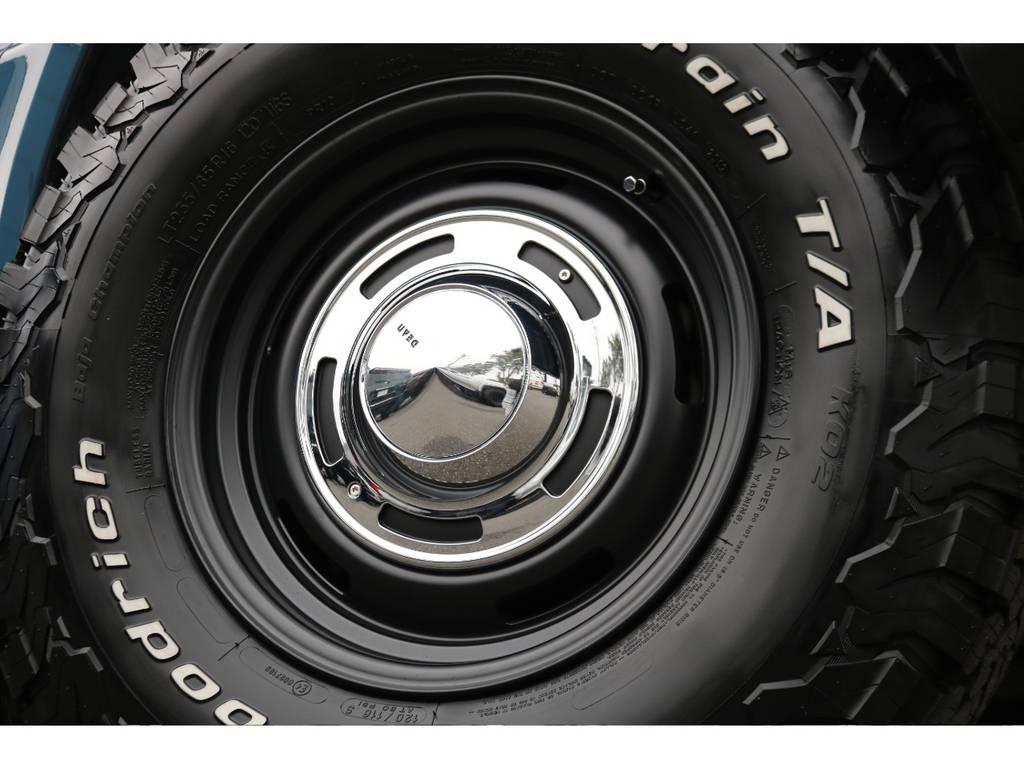 DEANクロスカントリー16インチAW&BFG235ATタイヤ×5本を当店で新品装着しております!
