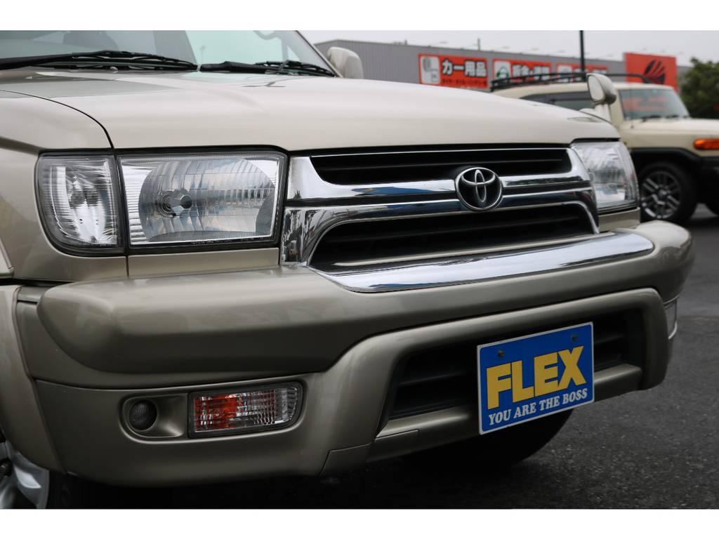 フロントフェイスもノーマルなので当時のままです! | トヨタ ハイラックスサーフ 2.7 SSR-G 4WD