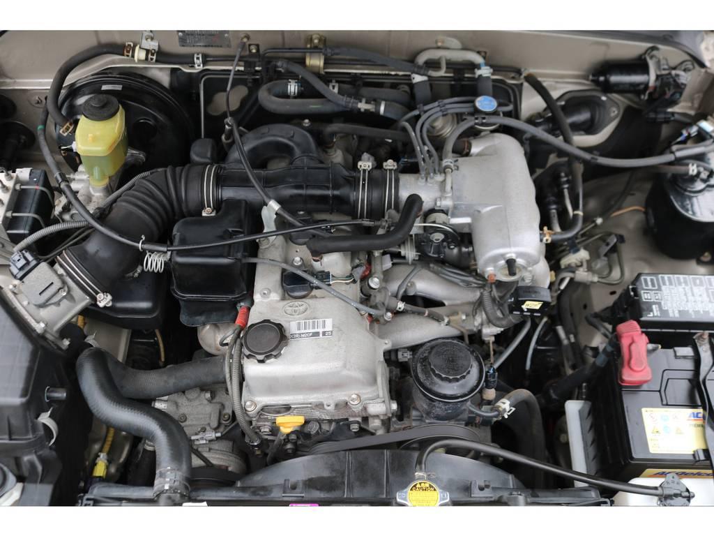 150馬力2.7L直4ガソリンエンジン!経済的でタイミングチェーンなのでの交換は不要です! | トヨタ ハイラックスサーフ 2.7 SSR-G 4WD