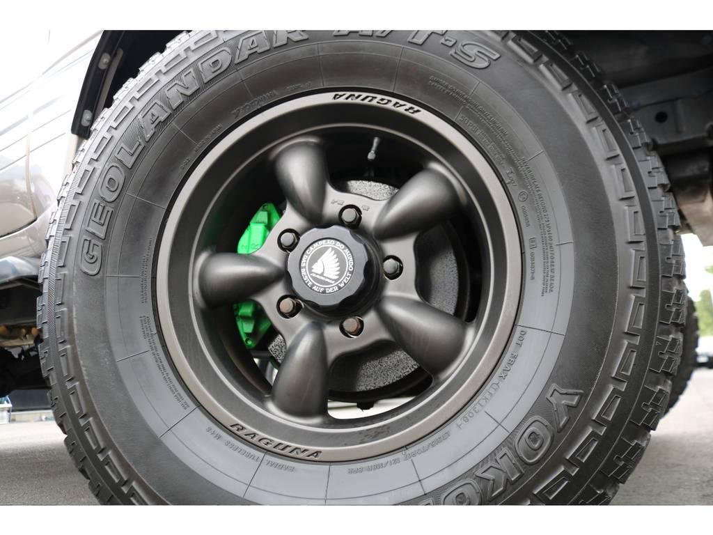 ラグナ製17インチAWにジオランダー315ATタイヤがインストールされています!