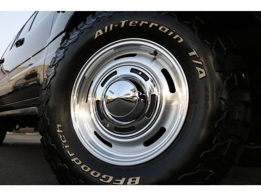 DEANクロスカントリー16インチAWとBFグッドリッジ235ATタイヤを新品でインストール!クラシカルな印象でかつ、ホワイトレターがインパクトがあります!