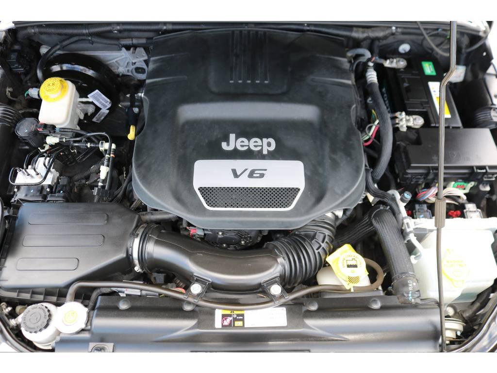 パワフルな走りが特徴のエンジン!エンジンルーム内もキレイな状態!