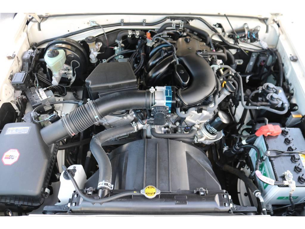キレイに保たれているエンジンルーム!V6・4000ccのトルクフルな走りが特徴!