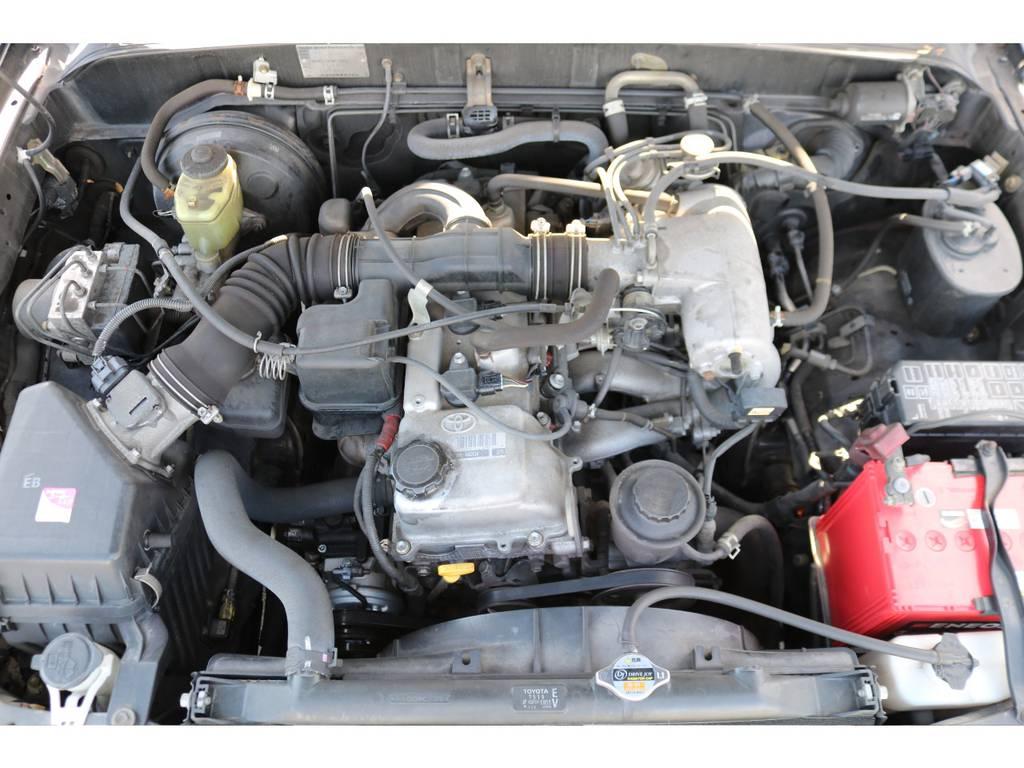 経済性に優れた2700ccエンジン!チェーン式なので10万キロに一回の交換が必要ありません!
