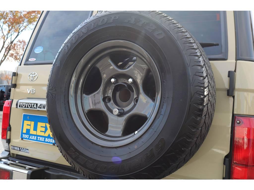 背面タイヤも交換済!統一感が増しますね!