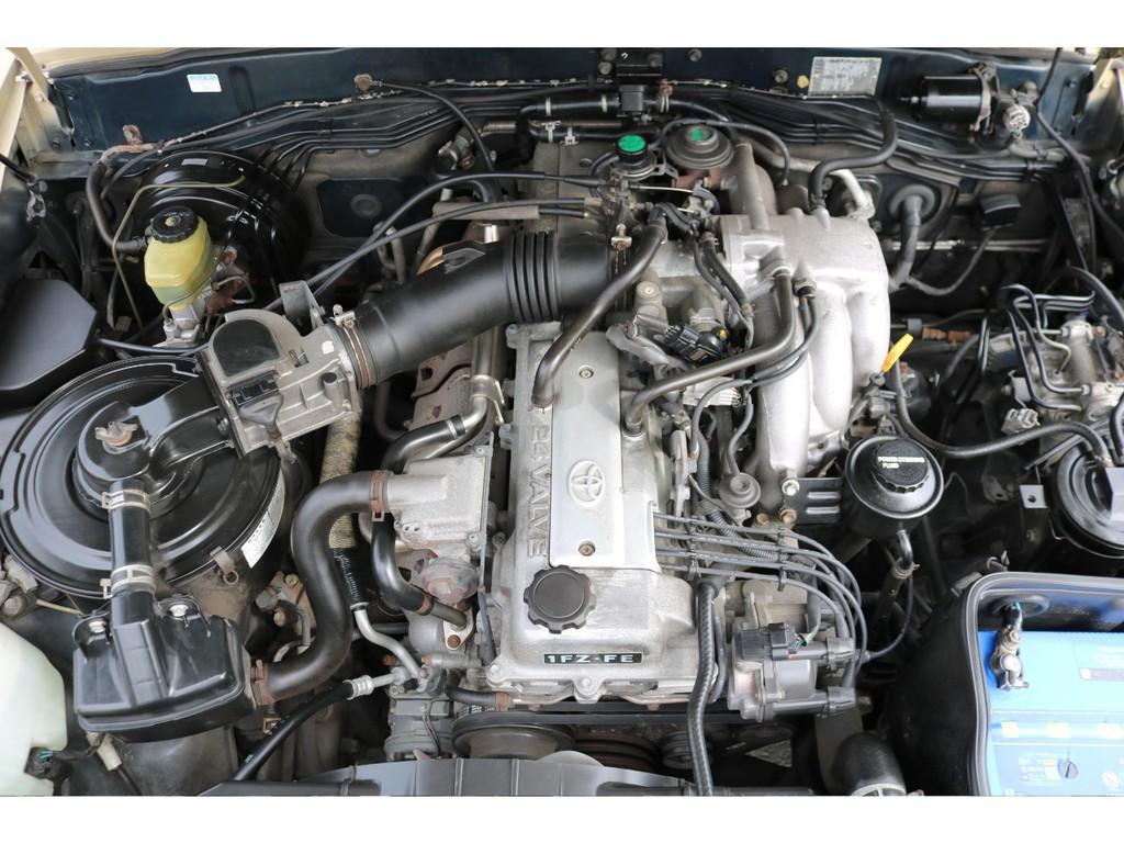 レスポンスの良い直6・4500cc!1FZエンジン!タイミングチェーン!