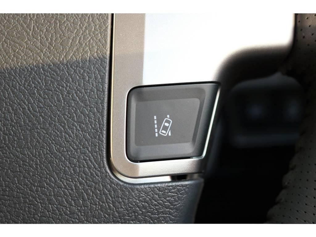 ステアリング部にはレーンアラートの切り替えスイッチが増設となりました! | トヨタ ハイエースバン 2.0 スーパーGL ロング TSSP付