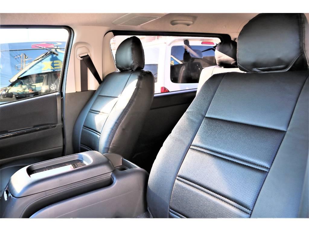 全席黒革調シートカバーを装着済み!お手入れもし易くなっております! | トヨタ ハイエースバン 2.0 スーパーGL ロング TSSP付