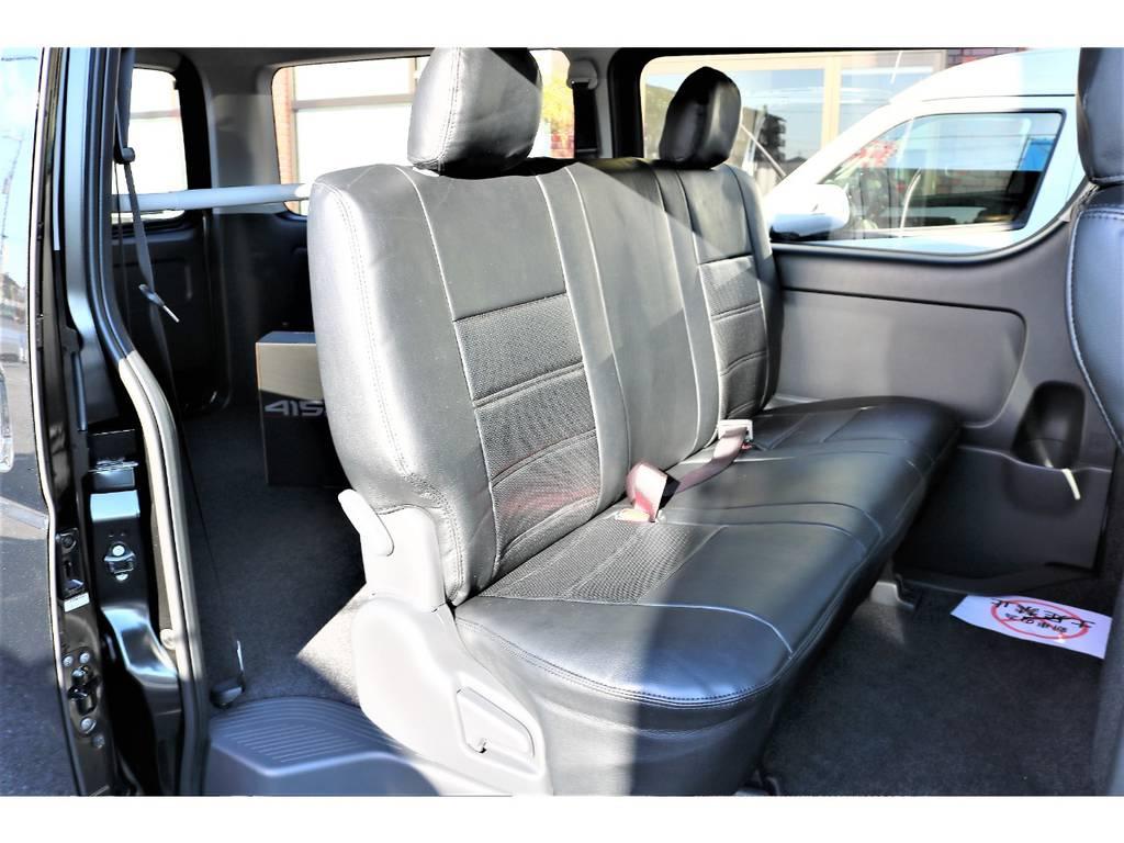大人の方でもゆったりと座れる座り心地の良いリアシートです! | トヨタ ハイエースバン 2.0 スーパーGL ロング TSSP付