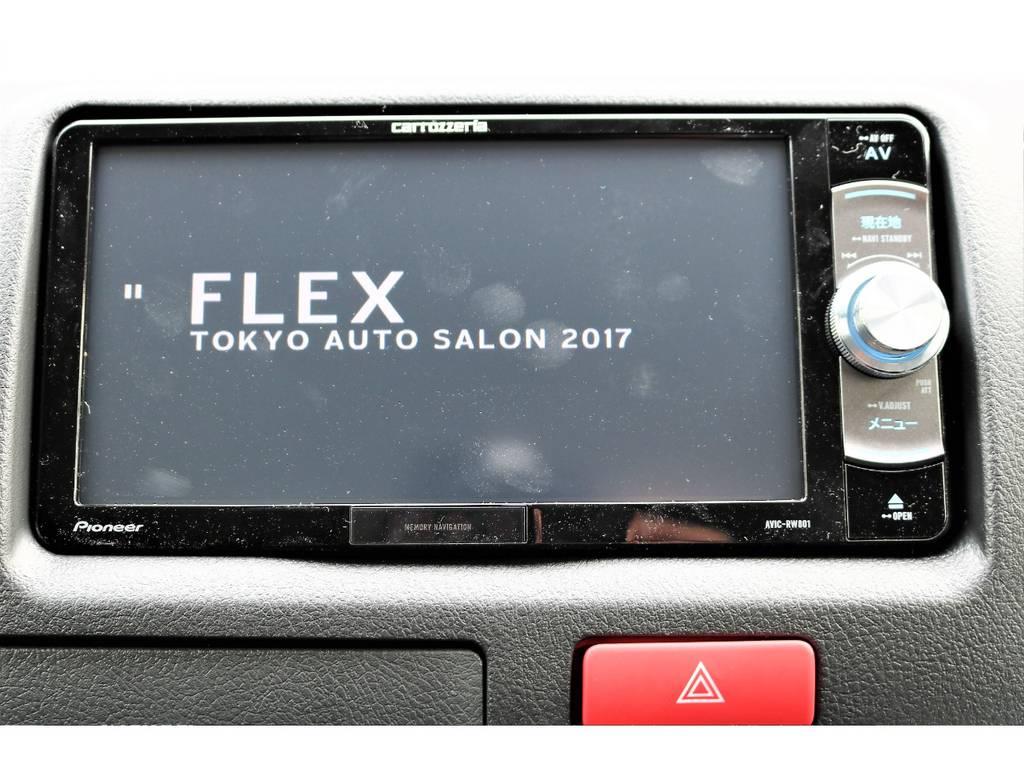 カロッツェリアのフルセグSDナビもインストール済み!お仕事やプライベートにもお使い頂けます! | トヨタ ハイエースバン 2.0 DX ロング GLパッケージ S-GL 2ndシート