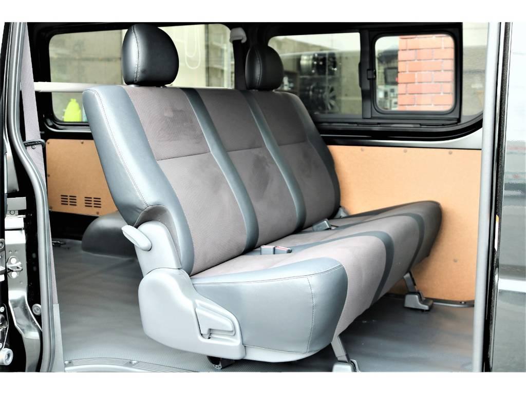 2列目シートはスーパーGL ダークプライムの物に換装しました!より便利にお使い頂けます! | トヨタ ハイエースバン 2.0 DX ロング GLパッケージ S-GL 2ndシート