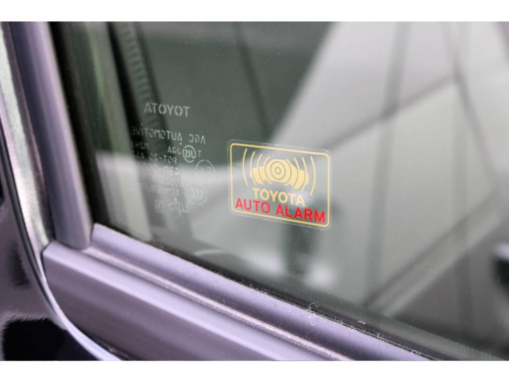 純正TOYOTAオートアラーム付きです!防犯対策が強化されています! | トヨタ ハイエースバン 2.0 DX ロング GLパッケージ S-GL 2ndシート