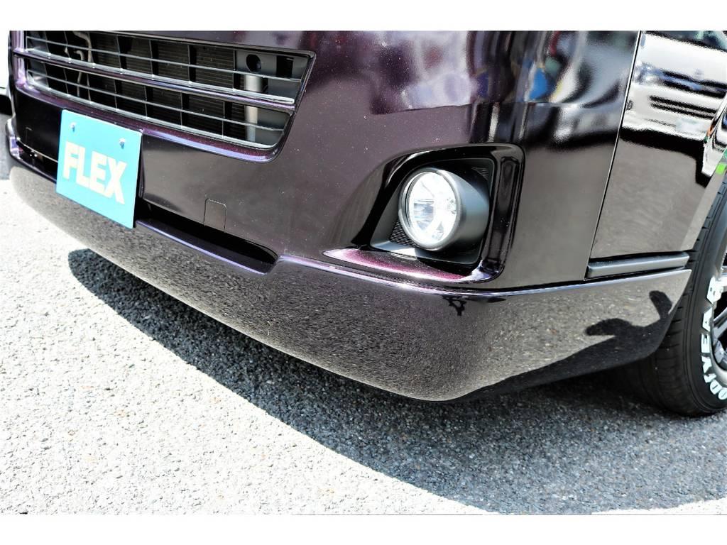 新品オリジナルリップスポイラーを装着! | トヨタ ハイエースバン 3.0 スーパーGL ロング ディーゼルターボ プライムセレクション
