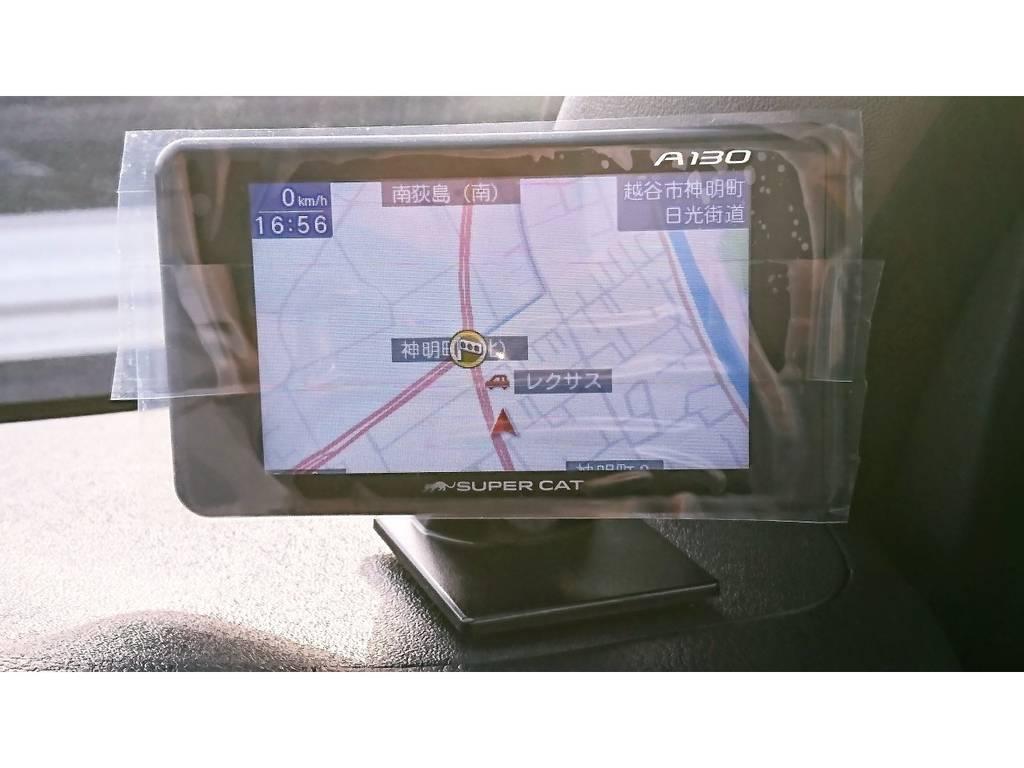 嬉しいレーダー探知機付きです! | トヨタ ハイエースバン 2.7 スーパーGL ダークプライム ワイド ミドルルーフ ロングボディ 4WD